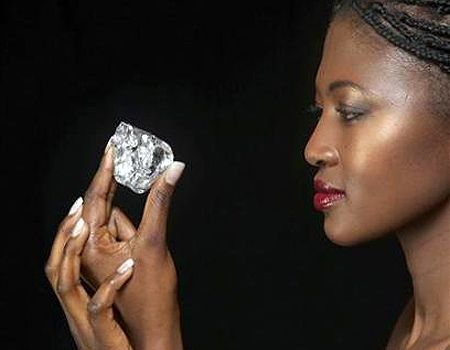 One of the largest diamonds ever found. Source: U.S. Dept. of State.