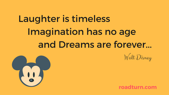 walt disney quote - laughter is timeless