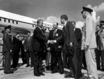 Kennedy and Wernher von Braun meeting