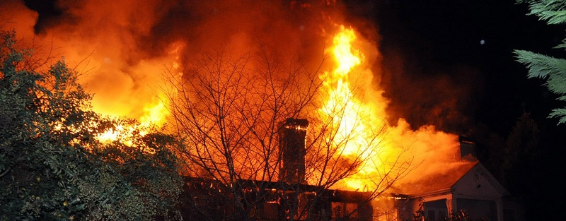 photo of building fire